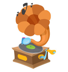 Gramophone ancient musical instrument vintage vector