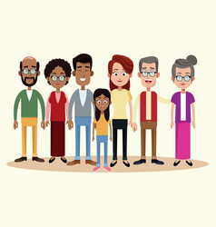 Group family different multicultural vector