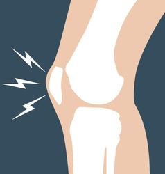 Knee pain - joint bones orthopedic vector