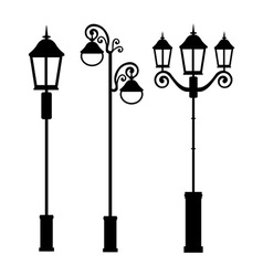 Lamps design vector
