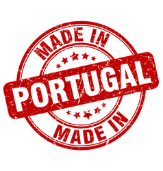 Made in portugal red grunge round stamp vector
