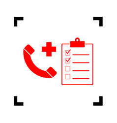 Medical consultration sign red icon vector