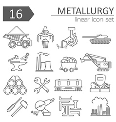 Metallurgy icon set thin line icon design vector