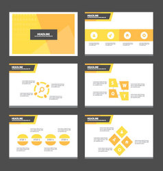 Orange presentation templates Infographic elements vector image