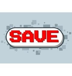 Pixel computer game save text screen vector