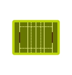 Rugby sport field icon flat style vector image vector image