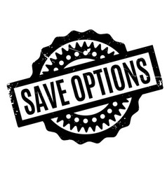 Save options rubber stamp vector