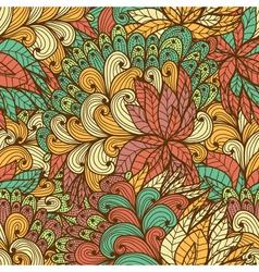 Seamless floral vintage fantasy pattern vector image