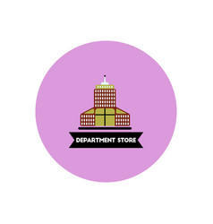 Stylish icon in color circle building department vector