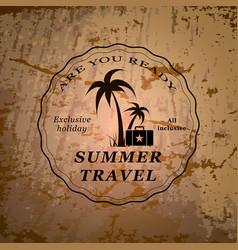 Summer travel emblem vector