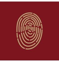 The fingerprint icon id symbol flat vector