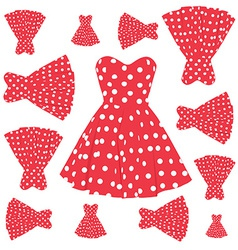 Vintage dress pattern vector