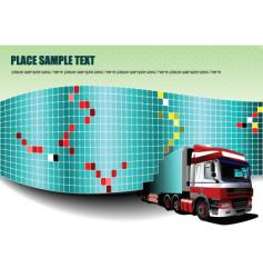 Wall and truck vector