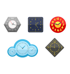wall clock circle sign with chronometer pointer vector image vector image