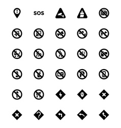 Warning icons 3 vector