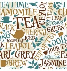Tea seamless tile vector