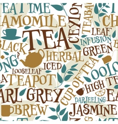 Tea seamless tile vector image