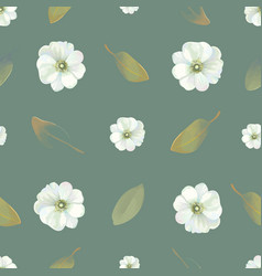 Natural seamless pattern with delicate flowers and vector