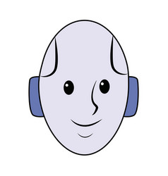 Android head smiling technology smart vector