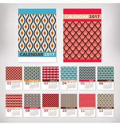 2017 year stylish calendar vector