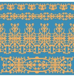 ornament orange vintage vector image