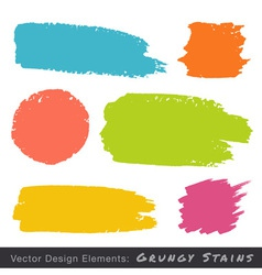 Set of hand drawn flat grunge stains vector
