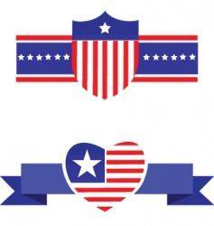 america emblem and sheild vector image