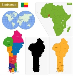 Benin map vector