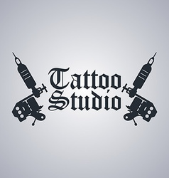 Tattoo machine theme vector