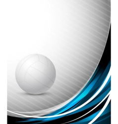 volleyball template vector image