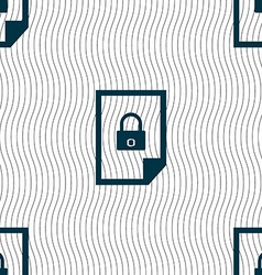 File locked icon sign seamless pattern with vector