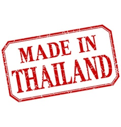 Thailand - made in red vintage isolated label vector