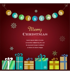 Boxes with gifts isolated on white red vector image vector image