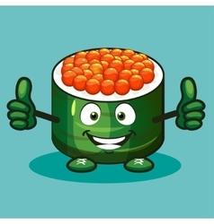 Boy sushi cartoon character vector