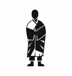 Buddhist monk icon simple style vector image vector image