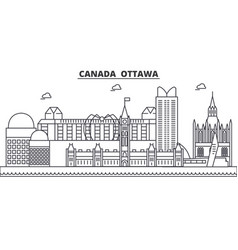 canada ottawa architecture line skyline vector image