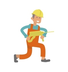 Character construction worker vector image