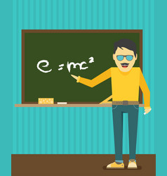 character - teacher education concept flat style vector image vector image
