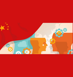 China concept of thinking growing innovation vector