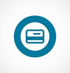 credit card bold blue border circle icon vector image