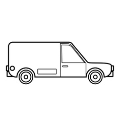 Delivery car icon outline style vector