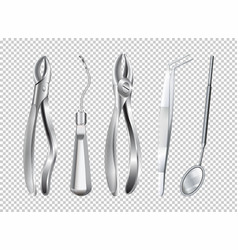 different tools used in dentist clinic vector image