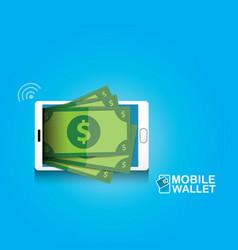 digital mobile wallet concept icon vector image vector image