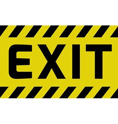 Exit sign vector