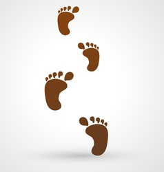Foot footsteps icon vector
