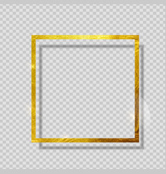 gold paint glittering textured frame on vector image