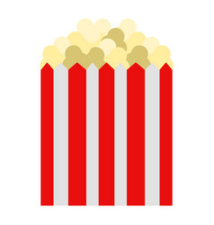isolated popcorn icon vector image vector image