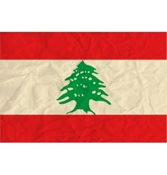 Lebanon paper flag vector image vector image