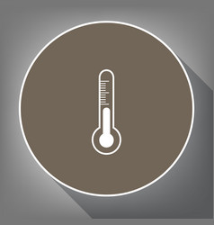 Meteo diagnostic technology thermometer sign vector