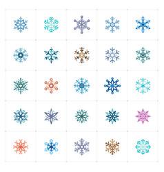 mini icon set - snowflake icon vector image vector image